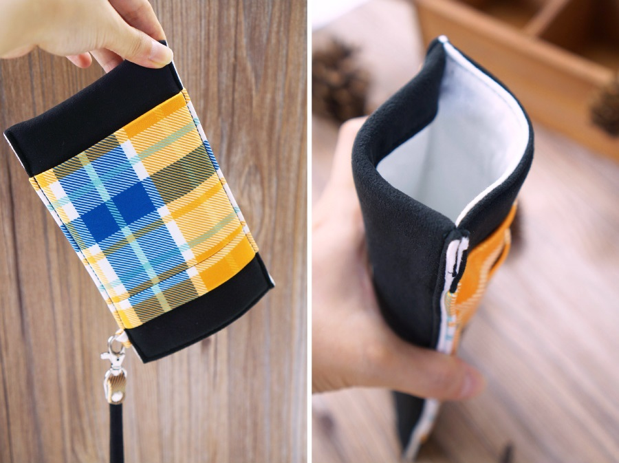 Onor Tartan Fever cell phone pouch-3